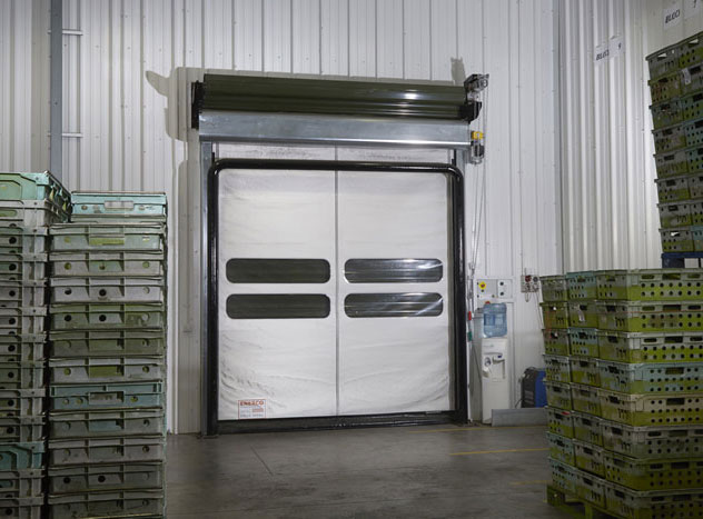 An insulated door closing